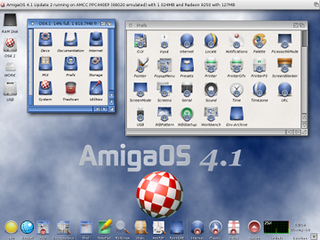 Workbench (AmigaOS) graphical user interface for the Amiga computer