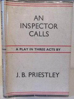 <i>An Inspector Calls</i> 1945 play written by English dramatist J. B. Priestley