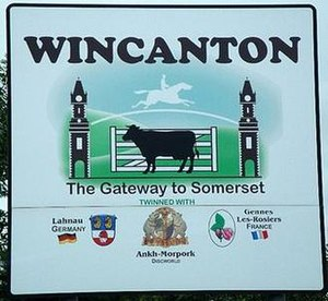 Ankh-Morpork - The town sign of Wincanton.