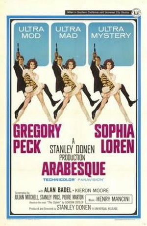 Arabesque (1966 film) - movie poster by Robert McGinnis