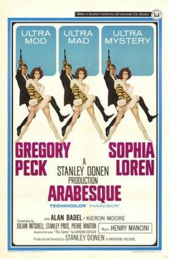 Arabesque (1966 film) - theatrical release poster by Robert McGinnis