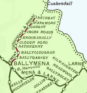 Ballymena, Cushendall and Red Bay Railway - The line in 1906