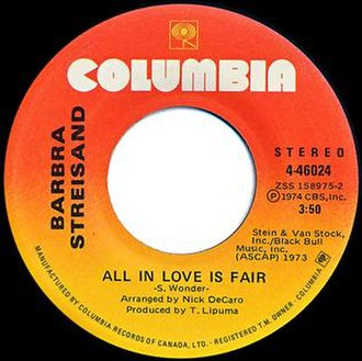 "All in Love Is Fair - Image: Barbra Streisand ""All in Love Is Fair"""
