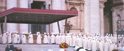 Catholic bishops at papal funeral