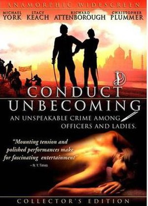 Conduct Unbecoming (film) - Theatrical release poster