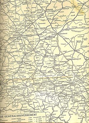 Wilhelm Cornides - German wartime map showing Cornides' route.