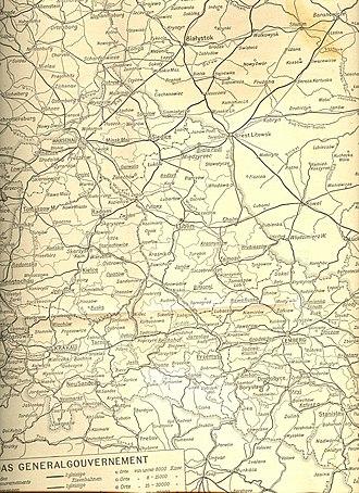 Wilhelm Cornides - German wartime map showing Cornides' route.