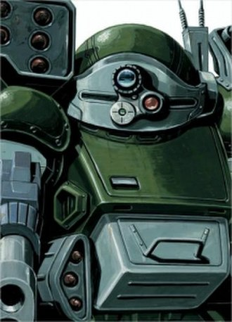 Armored Trooper Votoms - Cover for the third DVD Box Set, with an illustration of the ATM-09-ST Scopedog done by Kunio Okawara.