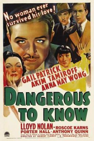 Dangerous to Know - Image: Dangeroustoknow