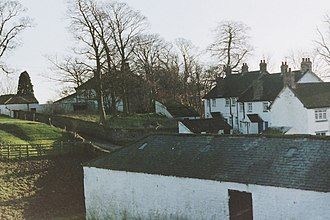 Denton, County Durham - Image: Denton Village back 1990