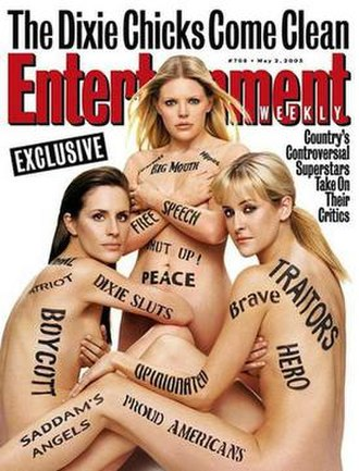 Dixie Chicks: Shut Up and Sing - Entertainment Weekly magazine cover used in promotional video