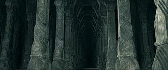 Moria (Middle-earth) - The 21st Hall, now abandoned, as seen in Peter Jackson's The Lord of the Rings: The Fellowship of the Ring
