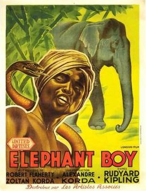 Elephant Boy (film) - Theatrical release poster