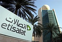 The Etisalat Tower in Dubai. Based in Abu Dhab...