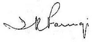 Ismail al-Faruqi - Al-Faruqi's signature