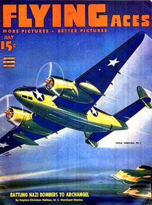 Flying Aces (magazine) - July 1943 cover of Flying Aces