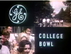 College Bowl - still image from the 1966 season title sequence