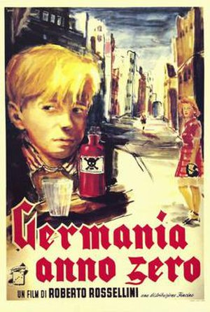 Germany, Year Zero - Image: Germania, anno zero poster