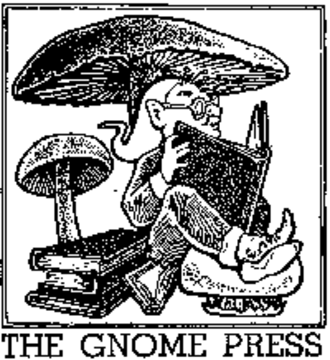 Gnome Press - first logo for Gnome Press designed by David A. Kyle
