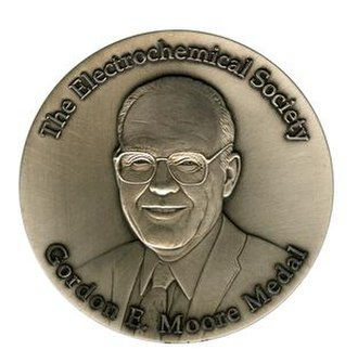 Gordon E. Moore Medal for Outstanding Achievement in Solid State Science and Technology - Image: Gordon E Moore Medal