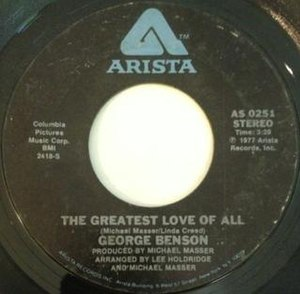 The Greatest Love of All - Image: Greatest love of all george benson vinyl