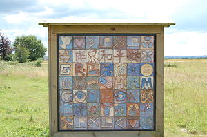 Greenham Common Women's Peace Camp - Greenham Common peace sign.