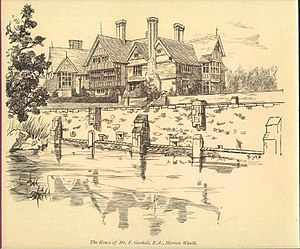 Grim's Dyke - Grim's Dyke from the dyke in 1881