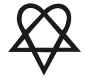 ee9f3c087 The heartagram is the trademarked symbol of HIM, created by Ville Valo