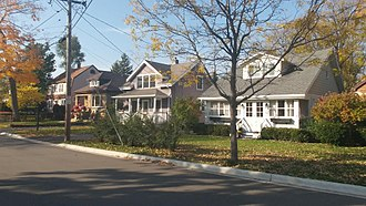 Highwood, Illinois - Arts and Crafts Bungalows, such as these on North Avenue, are found throughout the city.