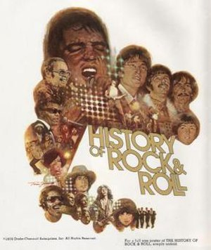 The History of Rock and Roll - 1978 promotional poster by Tom Jung
