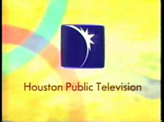 KUHT - Station identification with logo as Houston Public Television, used from 1993 until the early 2000s.
