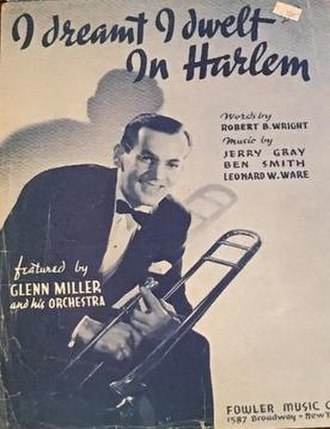 I Dreamt I Dwelt in Harlem - 1941 sheet music cover, Fowler Music, New York.