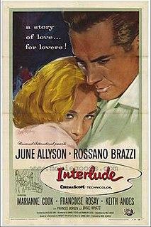 <i>Interlude</i> (1957 film) 1957 film by Douglas Sirk