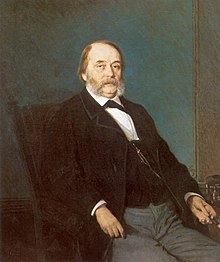 Portrait of Ivan Goncharov by Ivan Kramskoi (1874)