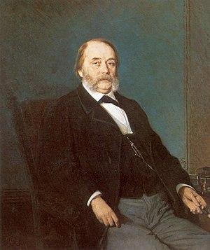 Ivan Goncharov - Portrait of Ivan Goncharov by Ivan Kramskoi (1874)