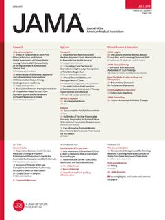 <i>JAMA</i> (journal) Peer-reviewed medical journal published by the American Medical Association