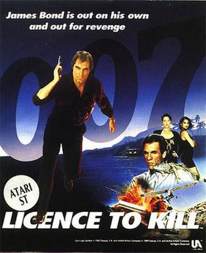 007: Licence to Kill - Atari ST Cover art