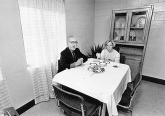 Jane Byrne - Byrne and her husband Chicago journalist Jay McMullen in their Cabrini–Green public housing apartment, April 1981.