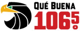 KLNV - Image: KLNV Que Buena 106.5 logo