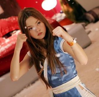 Devon Aoki - Aoki as Kasumi in the film DOA: Dead or Alive