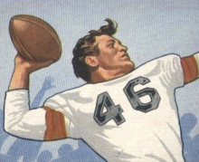 Ken Carpenter on a 1950 Bowman football card