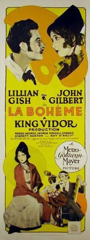 La Bohème (1926 film) - Promotional poster, a long poster possibly Daybill