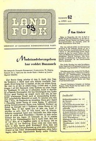 Communist Party of Denmark - Land og Folk from 1945