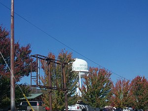 Locust Grove, Georgia - Locust Grove's water tower as seen from Georgia State Route 42