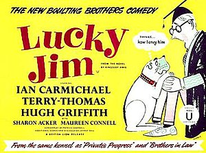 Lucky Jim (1957 film) - Original British quad format film poster