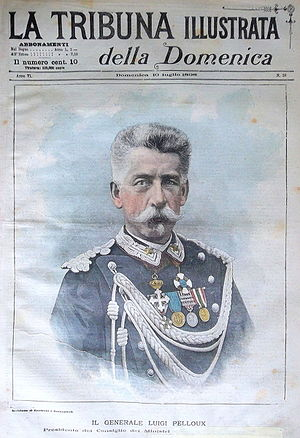 1899 in Italy - Prime Minister Luigi Pelloux