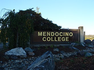 Mendocino College - Name sign at campus entrance