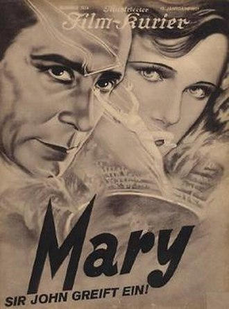 Mary (1931 film) - The film's title card