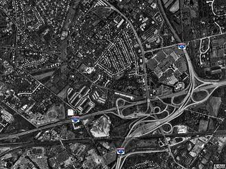 Interchanges in Pennsylvania - Image: Mid County Interchange 2