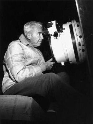 Nicholas U. Mayall Telescope - Mayall on March 2, 1973 viewing through the telescope to be named in his honor.